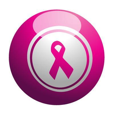 Pink Ribbon Bingo Ball for Bingo for Breast Cancer Awareness at WV Women's Expo on October 14, 2018 from 11am -4pm